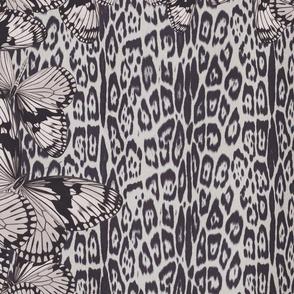 Greige Butterflies on Leopard