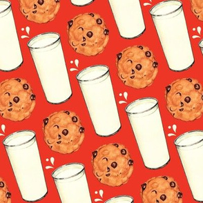 Milk & Cookies - Red