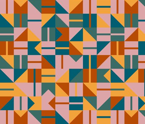 Geo Tile - Autumn Palette fabric by emmbee-design on Spoonflower - custom fabric