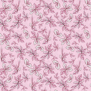 Flower Play Foliage Pink on Pink