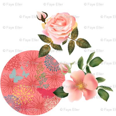 Peach Floral World
