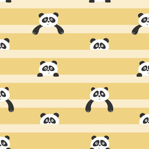 peekaboo panda - yellow