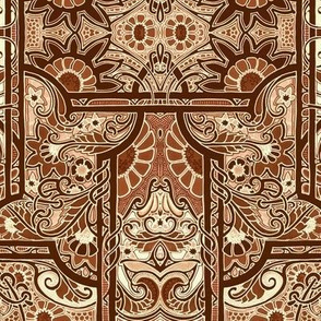 Fall of the Chocolate Paisley Curtain
