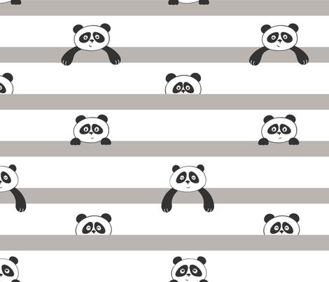 peekaboo panda fabric by vivdesign on Spoonflower - custom fabric