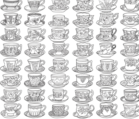 Crazy for Cups fabric by jannamcneil on Spoonflower - custom fabric