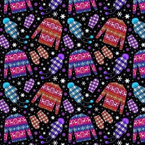 Reindeer barn sweaters 8x8 bright
