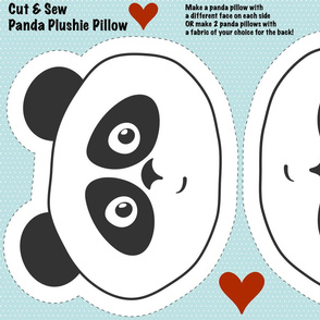 Panda plushie pillow