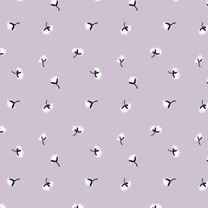 Cotton Boll Calico | Lavender Ice