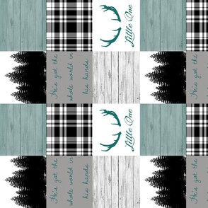 Little one teals and scripture rotated