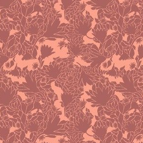 Rose-tone-Floral-Sillihoutte-