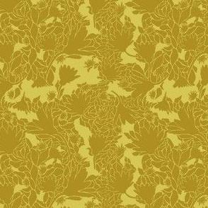 Gold-tone-Floral-Sillihoutte