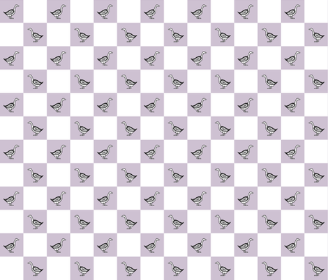 Folk Goose Check fabric by lochnestfarm on Spoonflower - custom fabric