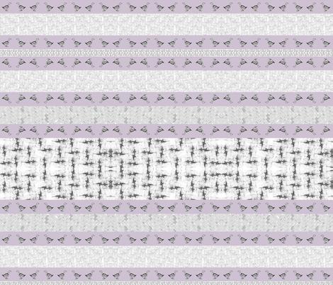 Modern Goose Stripe Wholecloth fabric by lochnestfarm on Spoonflower - custom fabric