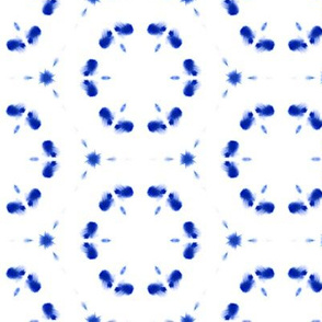 Watercolor Shibori Cobalt