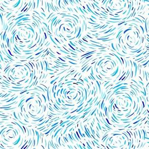 Watercolor Dash Waves