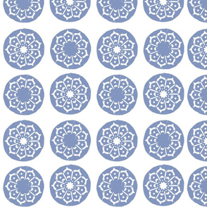 Blue Circles and Nine Pointed Stars_Melissa Charepoo
