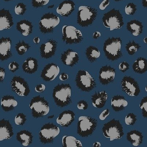 Cheeeetah blue silver animal print