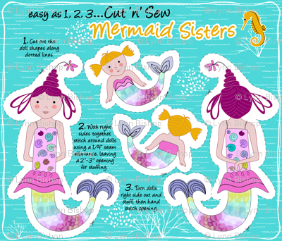 Mermaid Sisters Dolls
