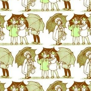 Rainy Day Girls (brown/green)