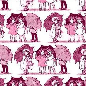 Rainy Day Girls (red/pink)