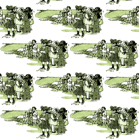 Children on the Bluff fabric by edsel2084 on Spoonflower - custom fabric