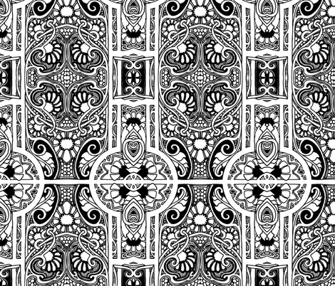 Black and White Traditions fabric by edsel2084 on Spoonflower - custom fabric
