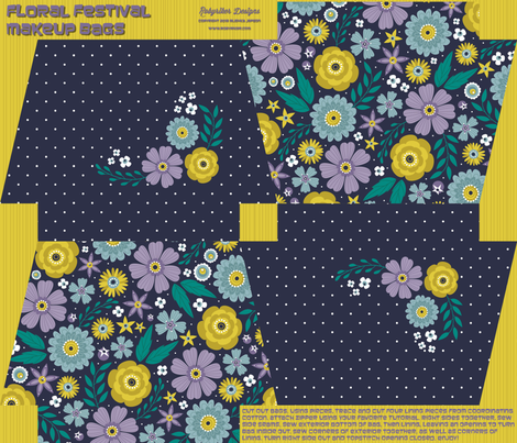 Floral Festival Makeup Bags fabric by robyriker on Spoonflower - custom fabric