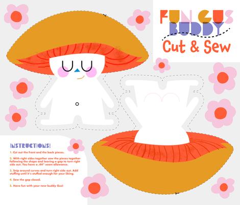 Fun Gus Buddy Cut & Sew Fat Quarter fabric by bashfulbirdie on Spoonflower - custom fabric