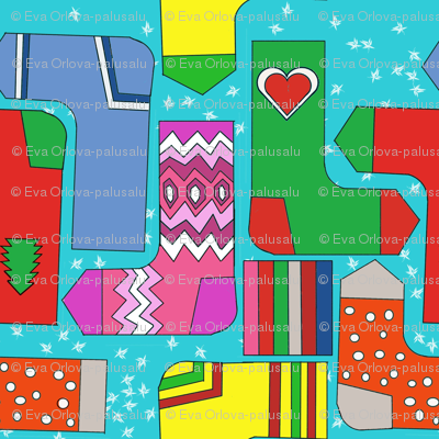 christmas stockings - cut and sew