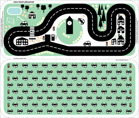 race track placemat fabric by melanie_jane_designs on Spoonflower - custom fabric