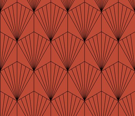 Hexagon Red fabric by kimsa on Spoonflower - custom fabric