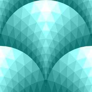 08096332 : faceted scales : cyan teal