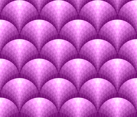 08096339 : faceted scales : magenta purple fabric by sef on Spoonflower - custom fabric