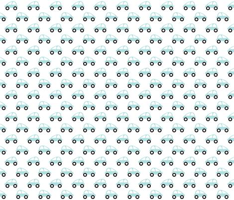 racing cars_blue & white fabric by melanie_jane_designs on Spoonflower - custom fabric