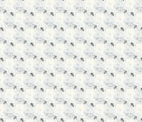 1840s Bees | Black + White fabric by lochnestfarm on Spoonflower - custom fabric