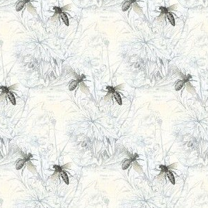 1840s Bees | Black + White