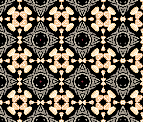 Celtic patterns watercolor fabric by katrinkastem on Spoonflower - custom fabric
