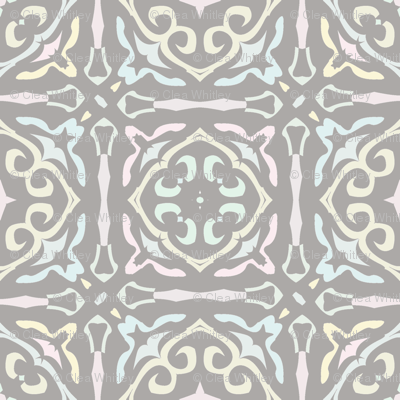 Gothic Tile in Pastel