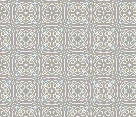 Gothic Tile in Pastel fabric by cleamadethis on Spoonflower - custom fabric