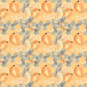 Watercolor design with oranges