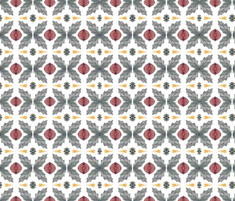 Watercolor symmetric pattern fabric by katrinkastem on Spoonflower - custom fabric
