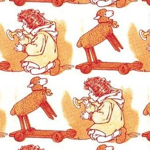 Boy with His Toys in 1916