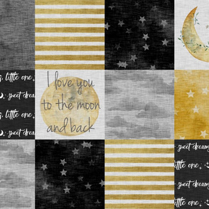 I Love You to the Moon And Back - Black And gold