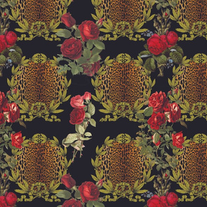 Laurel Leopard Roses