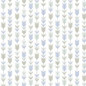 Small Arrow Feathers - Pastels on white - woodland nursery-ch