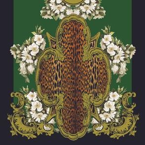 Leopard Quatrefoil Long Scarf