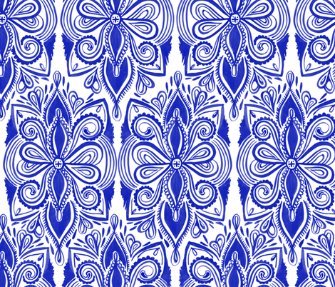 Tapestry - Ultramarine Blue fabric by kristinnohe on Spoonflower - custom fabric