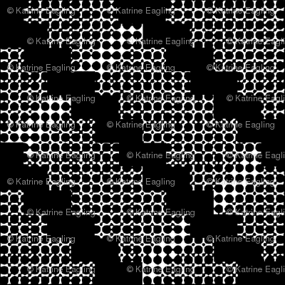 Black and White Large - Hills, x-lg