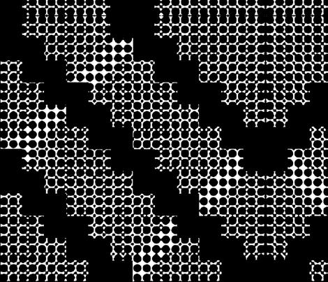 Black and White Large - Hills, x-lg fabric by kae50 on Spoonflower - custom fabric