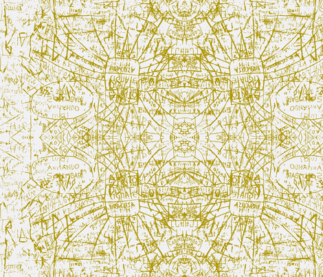 sicilian graffetti in moss and grey fabric by tallulah92 on Spoonflower - custom fabric